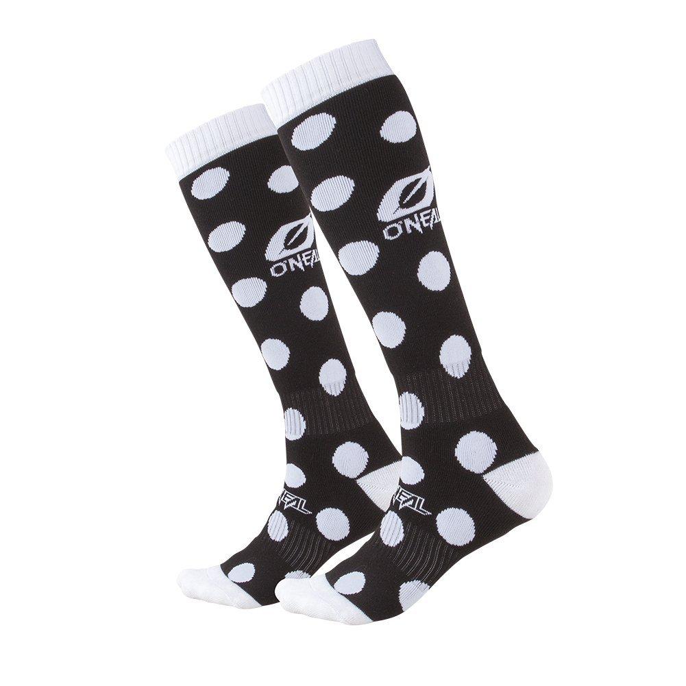 O'Neal Unisex-Adult's Pro MX Socks(Candy) (Black White, One Size),