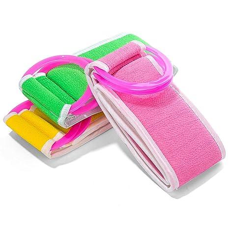 Tempshop 1 PC Espalda cinturón de Cepillo para baño Exfoliante Toalla de baño Scrub esponjas Cuerpo