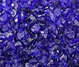 Fireglass Fireplace Fire Pit Glass, ~1/2″ Cobalt Glass Rocks, 12 LBS