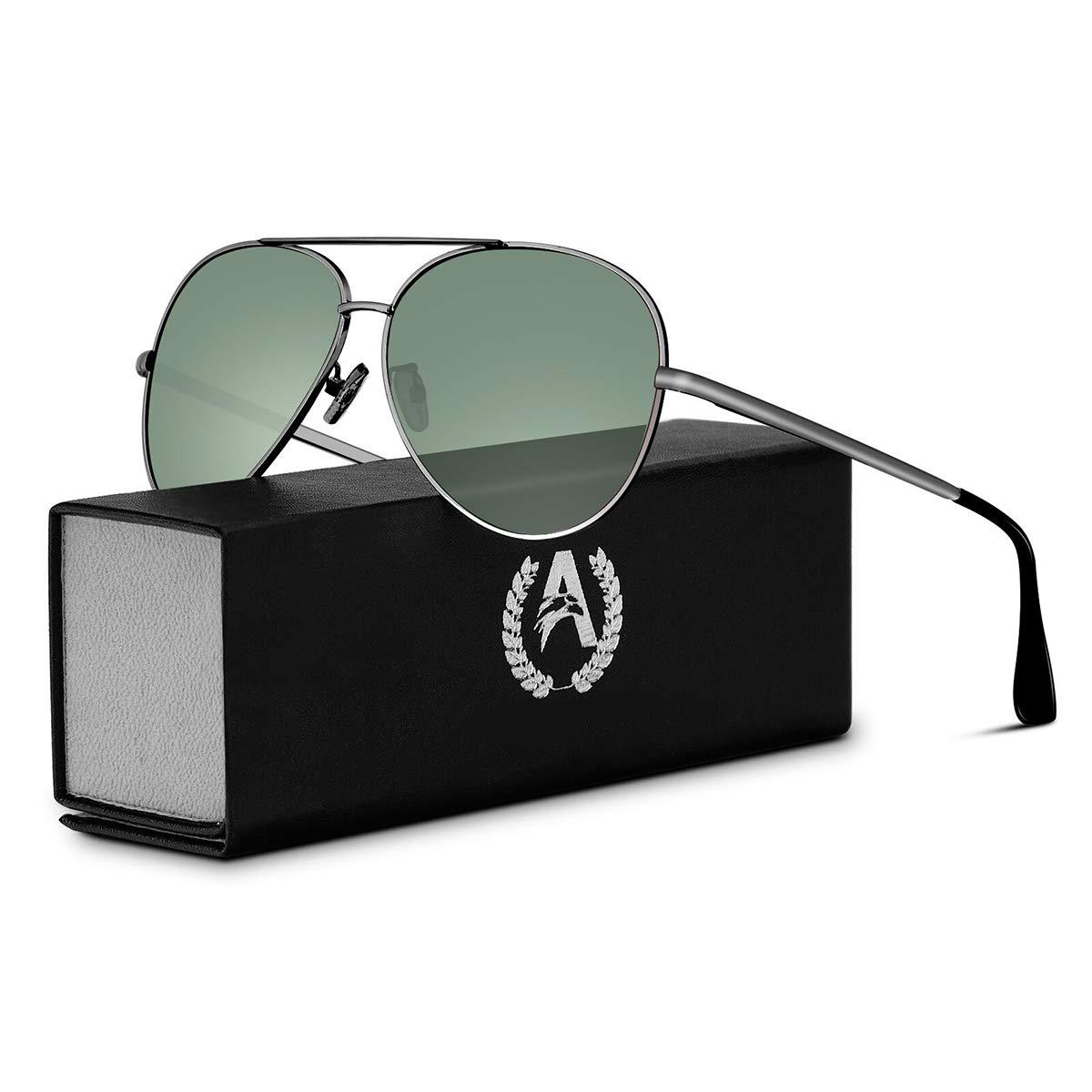 e83e123a54 VVA Gafas de sol Hombre Polarizadas Aviador Hombres Aviador Gafas de sol  Polarizadas Hombre Unisex Protección