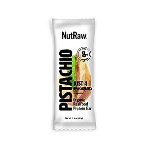 Nutrawbar, Organic Superfood, Raw Fruit and Nut Bar, Pistachio, 1.4 Oz, 12 Count