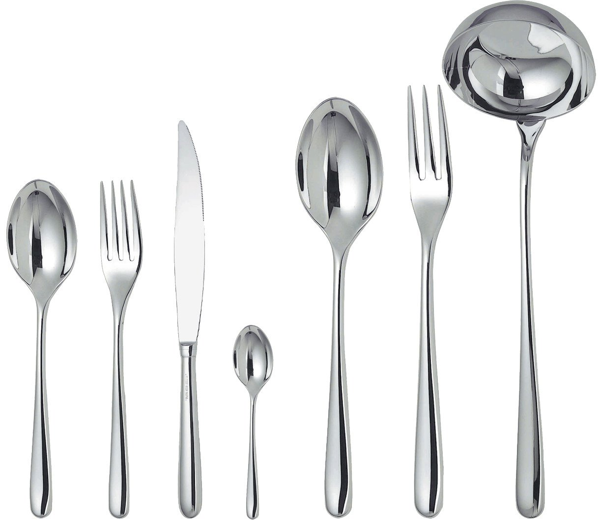 Amazon Com Alessi Caccia Flatware Set Of Twelve Table Spoons