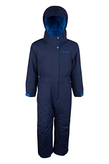 b17303c131d Mountain Warehouse Cloud All in One Kids Snowsuit - Waterproof One Piece,  Taped Seams, Fleece Lined Winter Jumpsuit, Adjustable -Ideal for Camping in  Cold ...