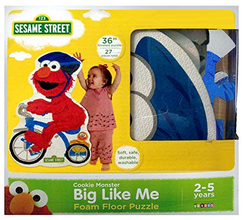 Lifesize Sesame Street Jigsaw Puzzle Featuring Elmo on Tricycle