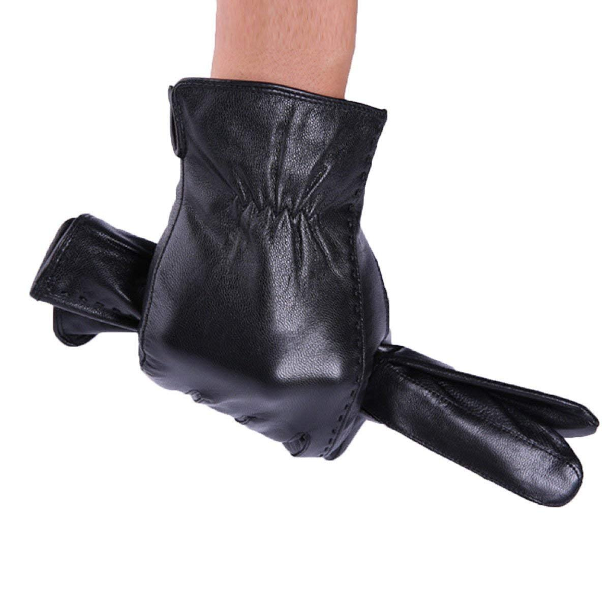 CWJ Gloves Men's Winter Cold Warm Warm and Thin Riding,Black,Large