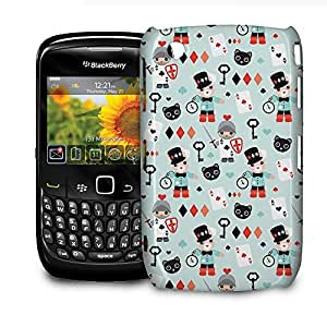 Phone Case For BlackBerry Curve 8520/9300 - Alice In Wonderland Friends Glossy Wrap-Around