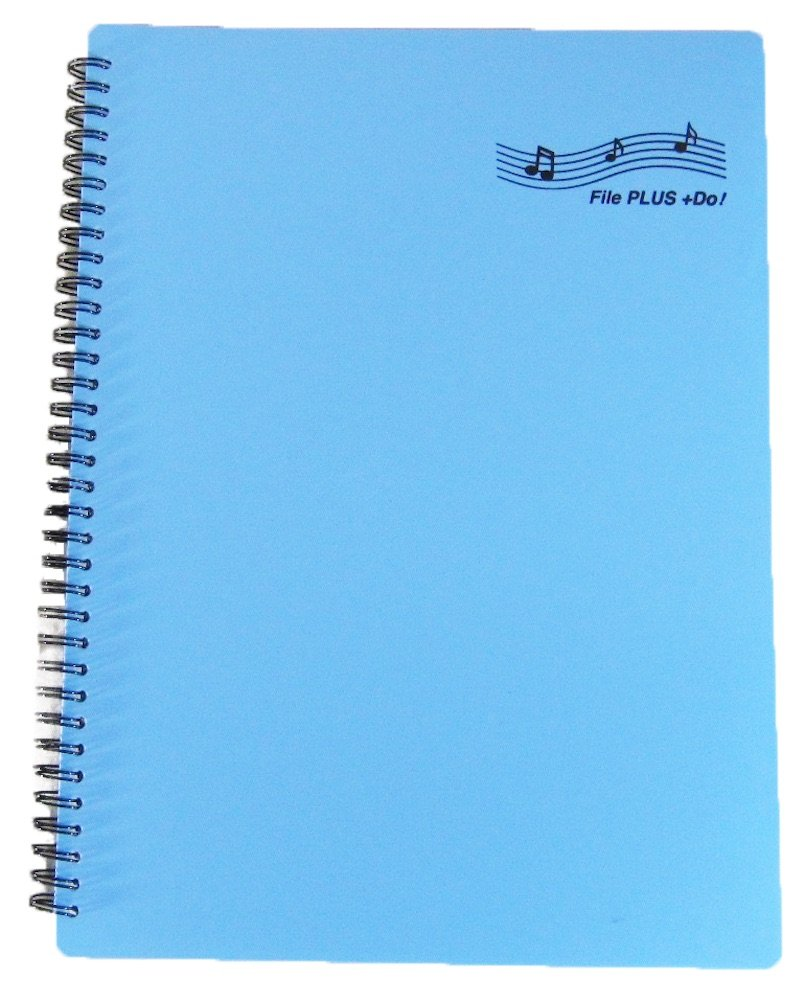 FILE PLUS DO Folder for Musicians, Sheet Music Folder, Band Folder, Writable, Spiral-Bound, US LETTER / A4 Size, 30 Sleeves, 60 Pages (Navy) File PLUS +Do!