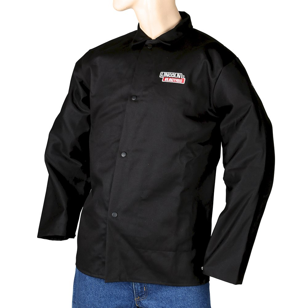 Lincoln Electric Black XX-Large Flame-Resistant Cloth Welding Jacket KH808XXL