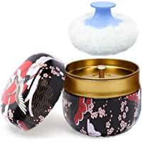 Powder Case with Powder Puff, Large Capacity Body Powder Container, Multifunctional Box for Baby After-Bath Care for…