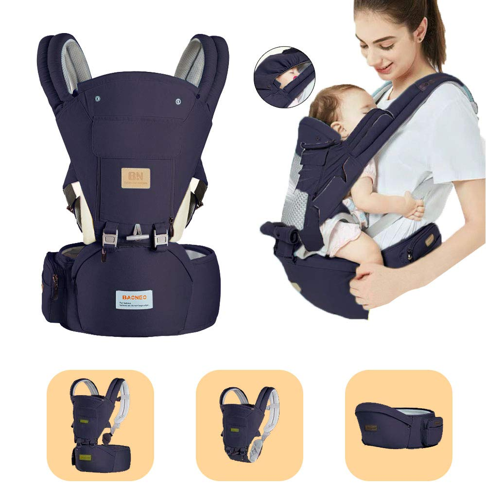 Convenient 3 In1 Safe Hipseat Ergonomic Baby Carrier Wrap Infant Sling Backpack