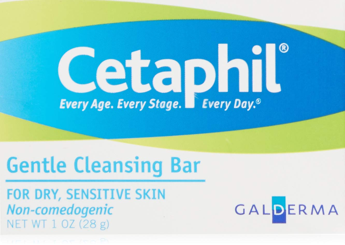 Cetaphil Gentle Cleansing Bar For Dry Sensitive Hypoallergenic 1 Oz Travel Size (Pack of 3)