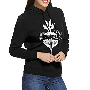 56964e24e CAOI UUC Schrute Farms Women Long Sleeve Casual Hoodie Hooded Sweatshirt  with Drawstring Black S