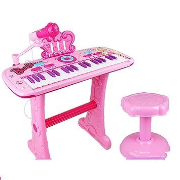 DUWEN Teclado para niños Principiante niña Puede jugar 1-3-6 años Enviar 4 5 baterías + destornillador: Amazon.es: Instrumentos musicales
