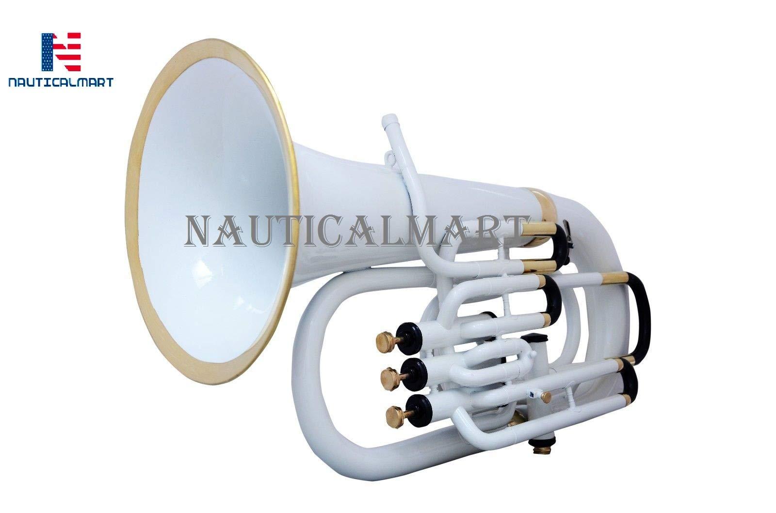 NauticalMart Bb Euphonium 3 Valve - White
