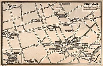 West End Theatres London Map.Amazon Com London West End Cinemas News Theatres Leicester