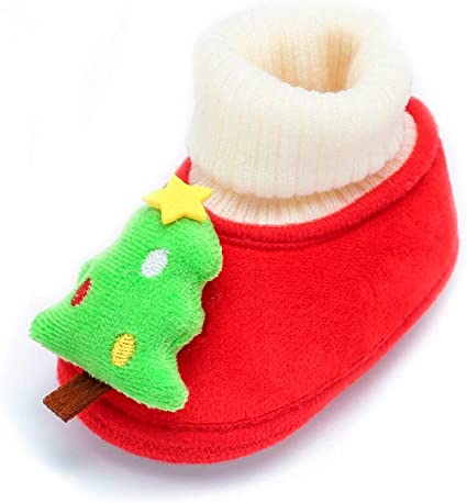 Fossen Kids Navidad Zapatos de Bebe Niñas Niño Algodón de Dibujos ...