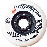 Hyper Concrete +G Limited Edition Inliner Rollen I Rollen für Skates I stabile Felgen I schnell I Ersatzrollen I starker Grip I für alle gängigen Inliner-Marken geeignet I 4er-Pack - Weiß
