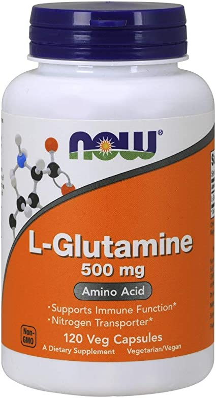 NOW Supplements, L-Glutamine 500 mg, Nitrogen Transporter