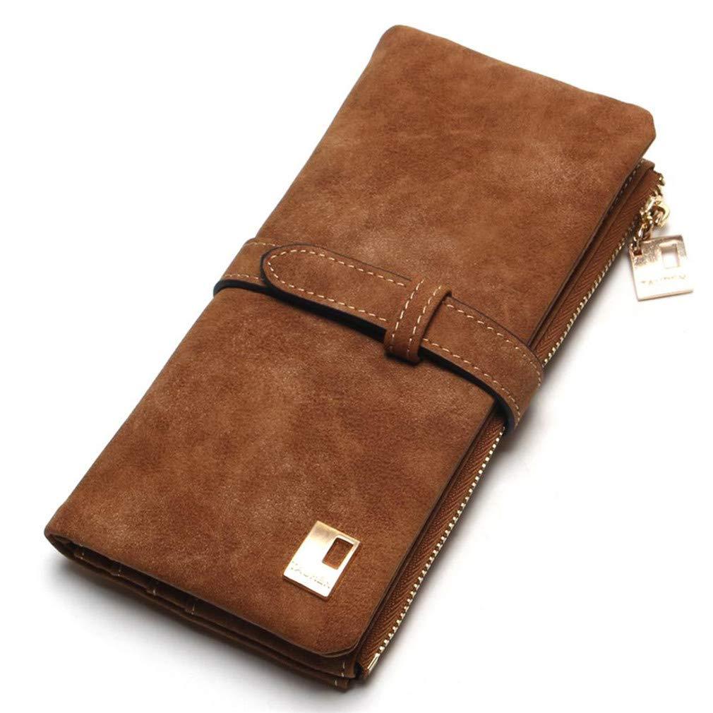 440b06d0dfb5 Amazon.com: JNCLEO Women Wallets Drawstring Nubuck Leather Zipper ...