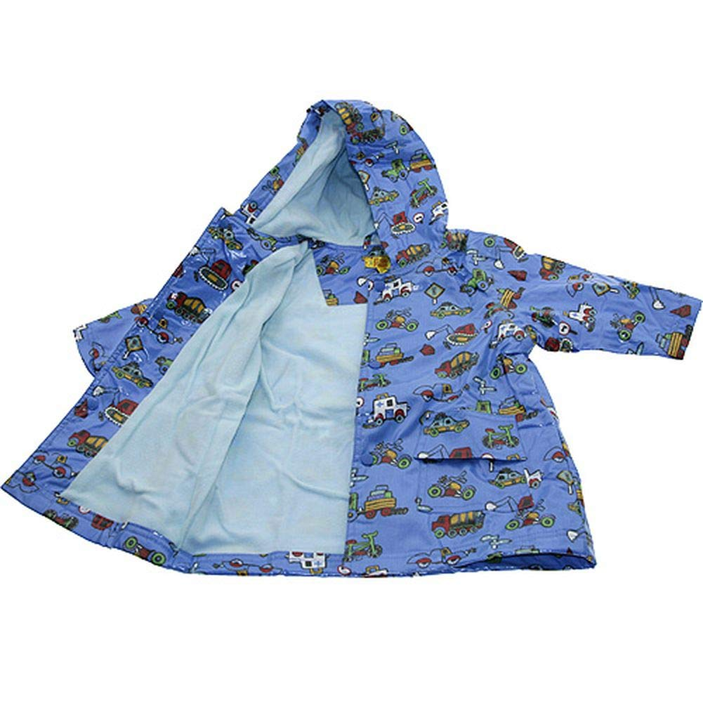 Pluie Pluie Boys Outerwear Blue Truck Lined Raincoat 6/6X by Pluie Pluie