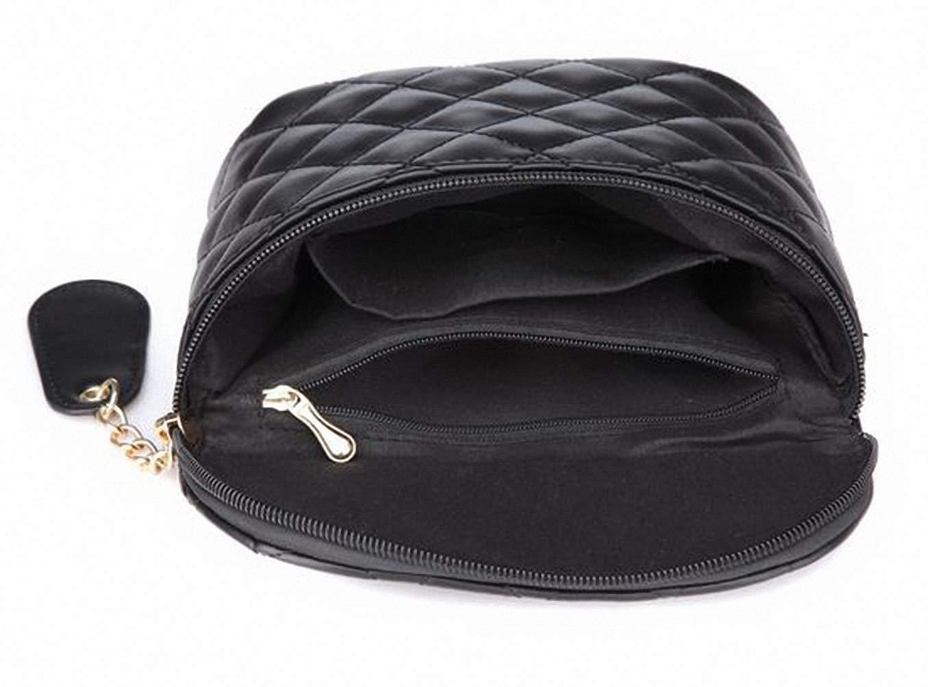 Leather Waist Packs Luxury Women Waist Bags Star Style Small Fashion Bag Black