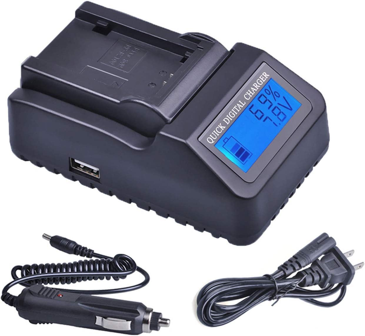 LCD Quick Battery Charger for Sony HDR-HC5E HDR-HC9E MiniDV Handycam Camcorder HDR-HC7E