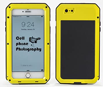 Botetrade Shockproof Waterproof Aluminum Caja Estanca Glass Metal Case Cover For iPhone 5s 4s 6/6 plus: Amazon.es: Electrónica