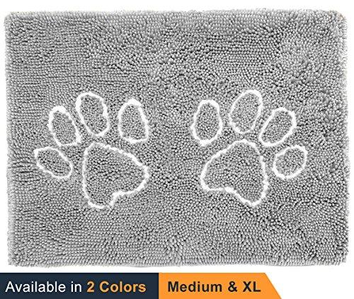 CatGuru Waterproof Non-Slip Machine Washable Cat Litter Mat, Extra Large, 36-Inch x 28-Inch, Grey