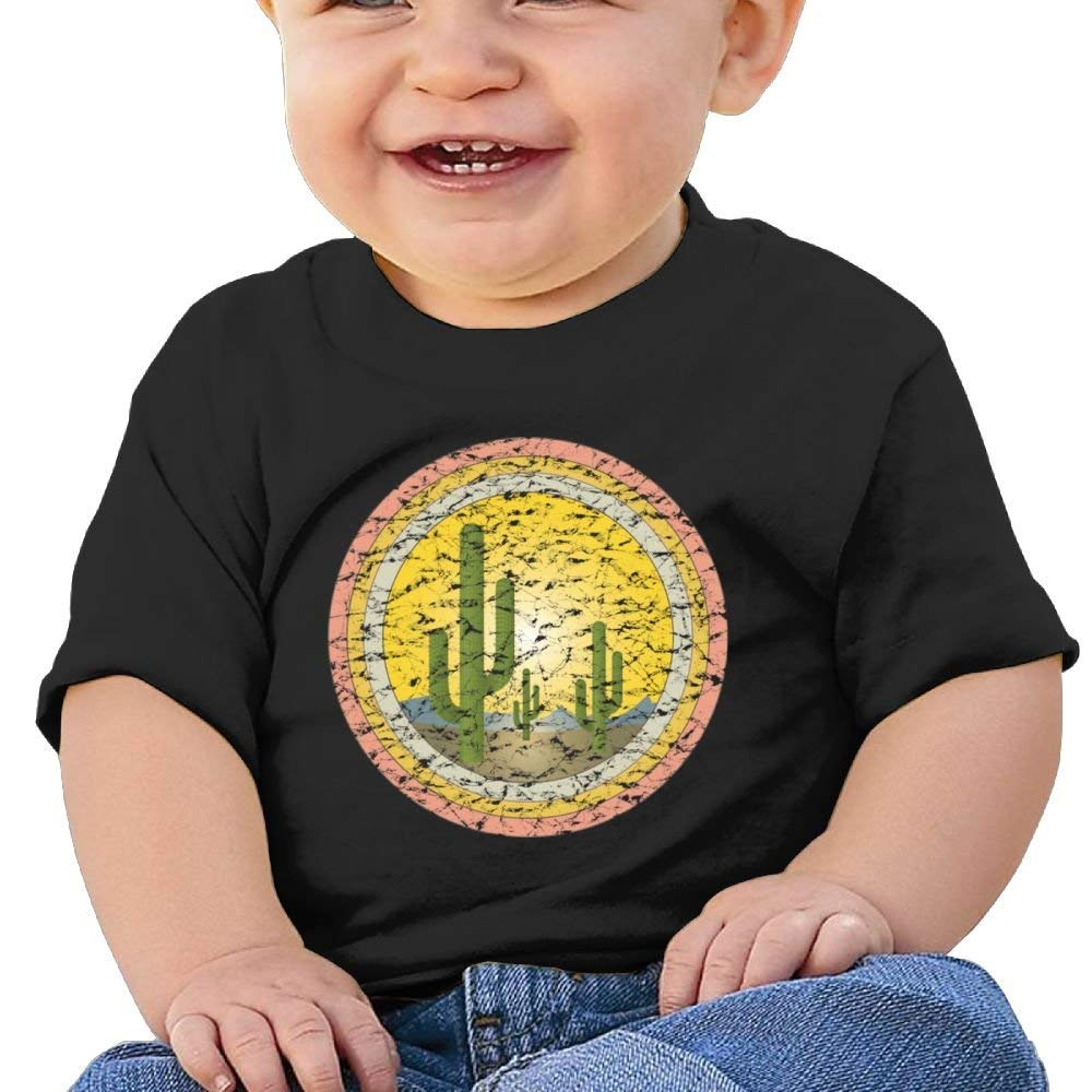 Short Sleeves T Shirts Retro Cactus Birthday Day Baby Boy Toddlers