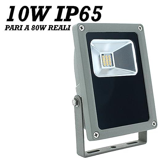 FOCO PROYECTOR LED 10 W BLANCO 4200° K 750 LUMENS IGUAL A 80 IP65 ...