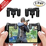 Mobile Game Controller Cell Phone Game Fire Button Aim Key Game Joystick Smart Phone PUBG Knives Out Rules of Survival Gaming Shooter Trigger L1R1 for Android IOS(1 Pair)