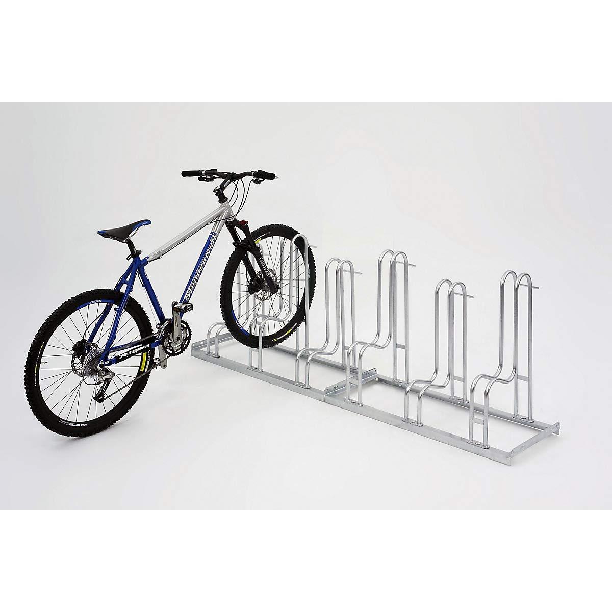 Fahrradhalter feuerverzinkt Ausführung 90° für Mountainbikes geeignet