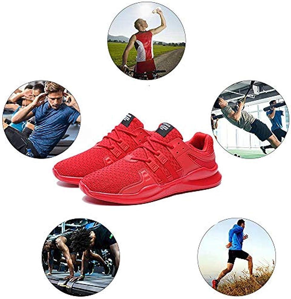 Nasonberg Sportschuhe Herren Atmungsaktiv Gym Laufschuhe Fitness Leichtgewicht Turnschuhe Freizeit Outdoor Sneaker straßenlaufschuhe rutschfeste Freizeitschuhe 01 Rot