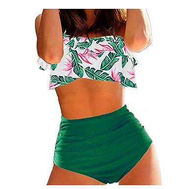Bikini de Cintura Alta para Mujer Trajes de baño 3XL Tallas ...