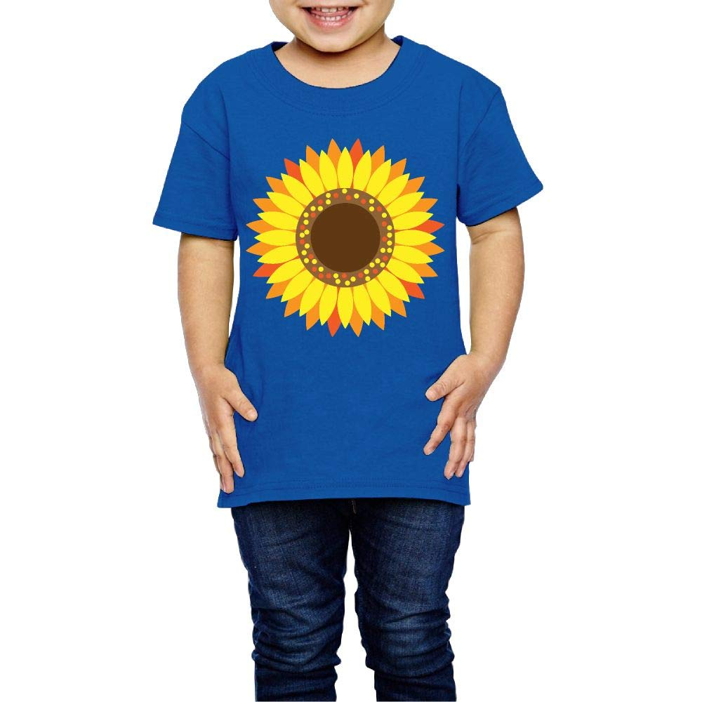 XYMYFC-E Sunflower Floral 2-6 Years Old Child Short-Sleeved Tshirts