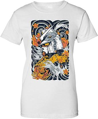 BakoIsland Mecha Otaku Design Camiseta de Mujer: Amazon.es: Ropa y accesorios