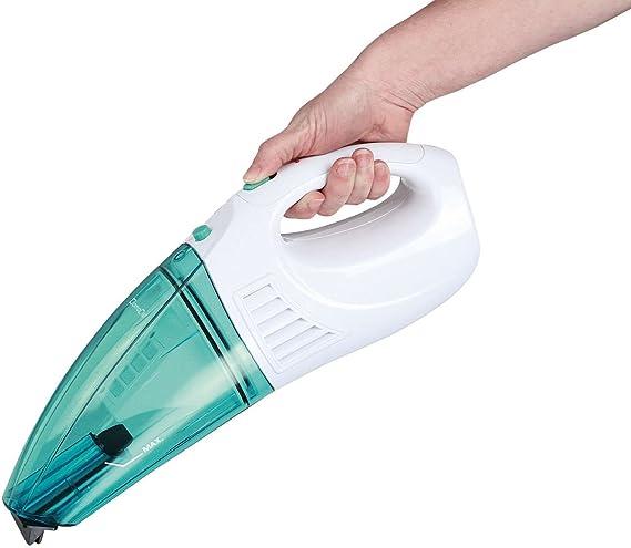 Aspiradora de mano para líquidos y superficies de mano Mini Aspiradora de aspiradora batería de aspiradora (inalámbrico, sin bolsa, pared, aspirador de Mojado, turquesa): Amazon.es: Hogar