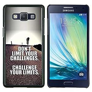 TECHCASE---Cubierta de la caja de protección para la piel dura ** Samsung Galaxy A5 ( A5000 ) 2014 Version ** --reta a tus límites de texto inspirador