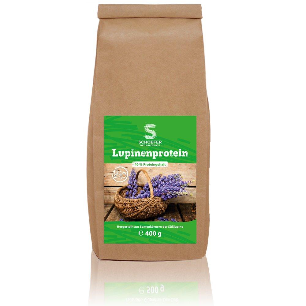 Función bio lupinenprotein | Low de carb y ketogen | Ideal para protei nshakes y Hornear | sin aditivos, laktosefrei, sin Azúcar, 400 g: Amazon.es: Salud y ...