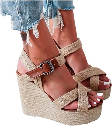 Size Buckle Wedges Sandals Roman Shoes