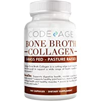 Codeage Organic Bone Broth Collagen Capsules Grass Fed - Pasture Raised Chicken...