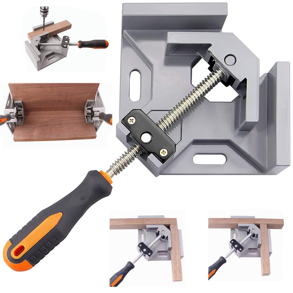 Meanhoo Right Angle Clamp, 90 Degree Picture Frame Framing Clamp Wood Working Tools and Equipment Corner Welding Table Box Clamps for Woodworking