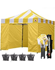 ABCCANOPY 15+Colors Commercial 10x10/10x15/10x20 Pop up Canopy, Party Tent, Fair Gazebo and Roller Bag Bonus 4X Weight Bag