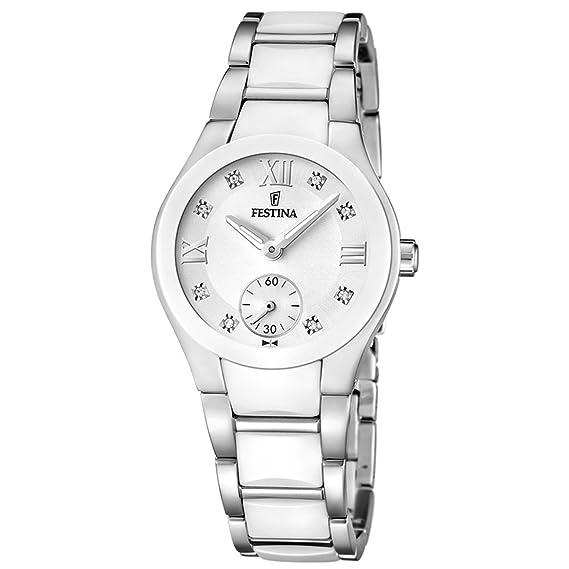 Festina F16588/2 - Reloj analógico de pulsera para mujer (mecanismo de cuarzo,