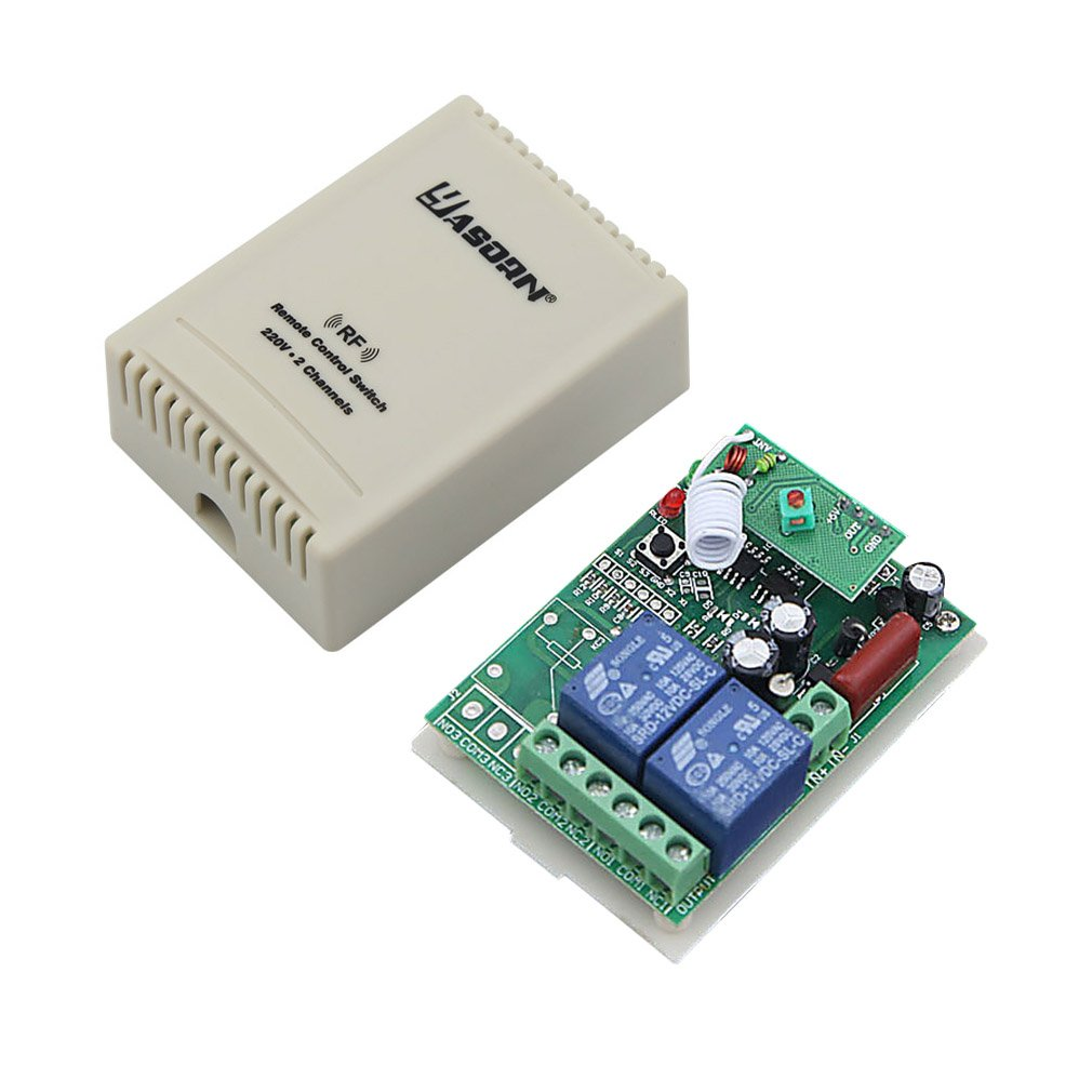 Yasorn 220v Relay 1000w Smart Wireless Rf Remote Control Switch Circuit 433mhz One 2 Channel With Two Transmitters Diy Tools