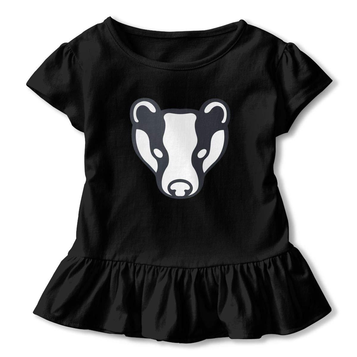 Badger Shirt Comfort Toddler Girls Flounced T Shirts Tops for 2-6T Kids Girls