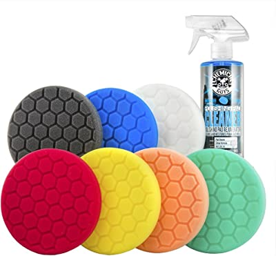 Chemical Guys BUF_HEX_Kits_8P Hex-Logic Buffing Pad Kit