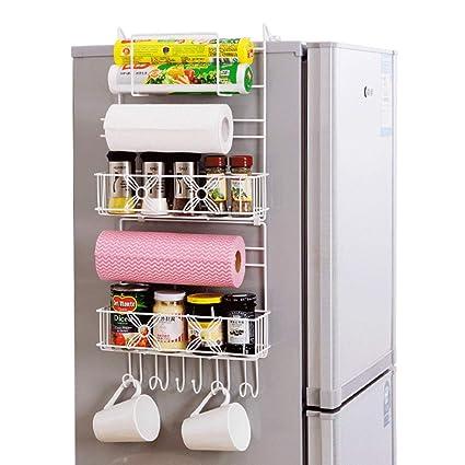 HUIYUE Creativo Estante del refrigerador,Estante de la Pared ...