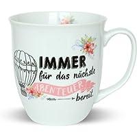 Happy Life Kaffee-Tasse mit Lama Tier-Motiv,