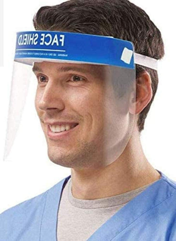 [5 Piezas] Máscara Facial Completa, máscara de Seguridad a Prueba de Salpicaduras, con máscara Protectora, Gafas, protección Integral, Sombrero Transparente